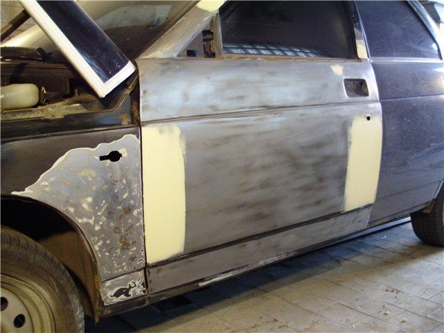 Подготовка к покраске и покраска авто своими руками